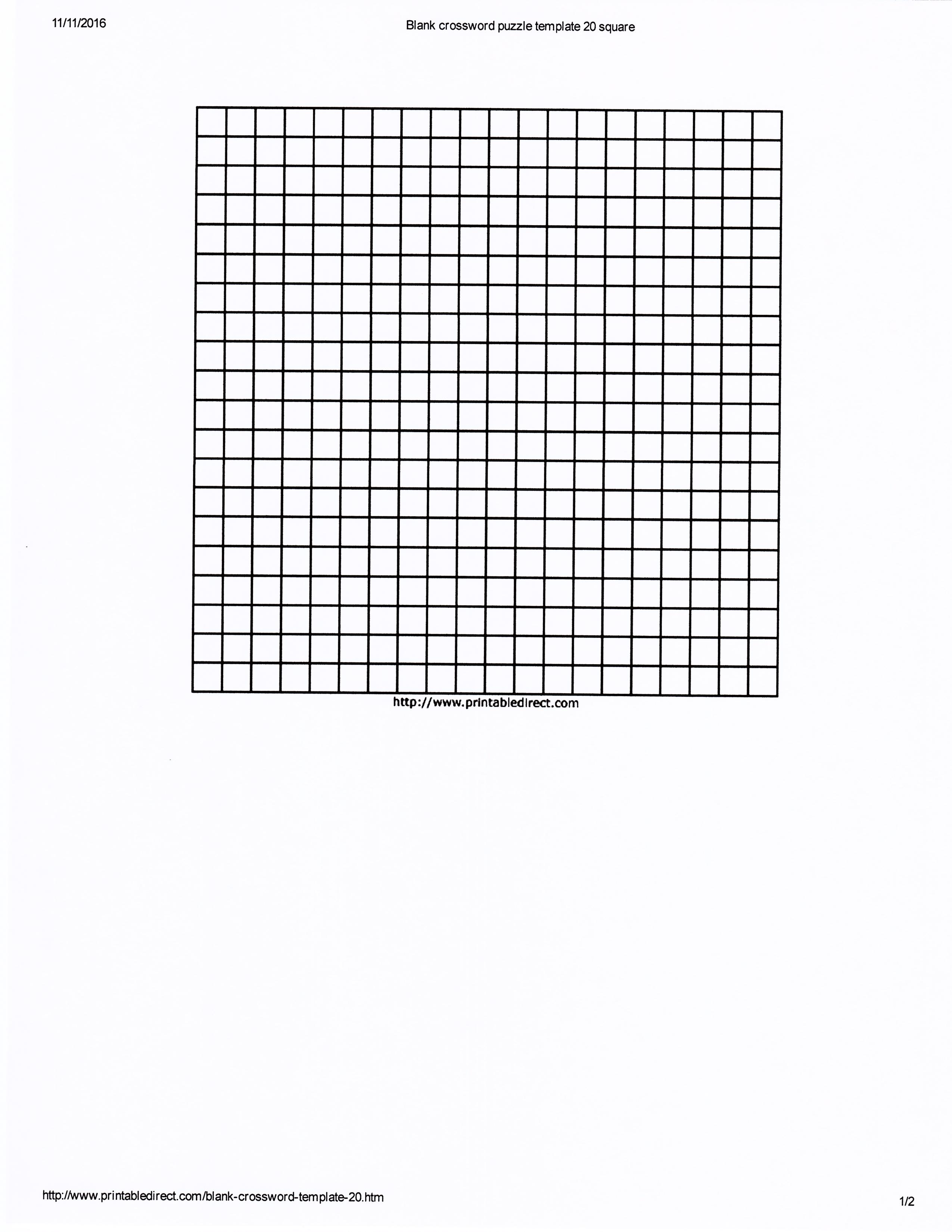 blank crossword sheet printable crossword template s le